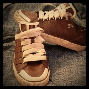 Leather kswiss
